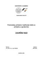 prikaz prve stranice dokumenta Proizvodnja, primjena i ispitivanje stakla za primjenu u zgradarstvu