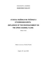 prikaz prve stranice dokumenta Utjecaj suženja na pojavu plavljenja i tečenje u otvorenom koritu